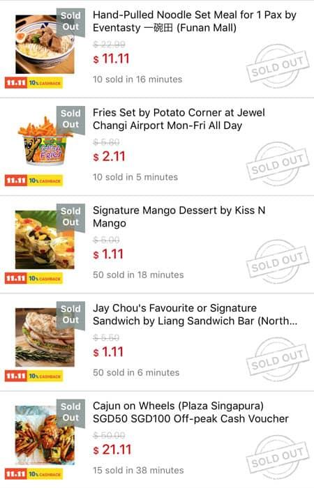 Buying Food Deals