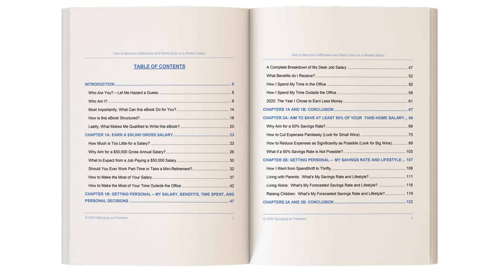 Table of Contents (Pages 1 and 2)