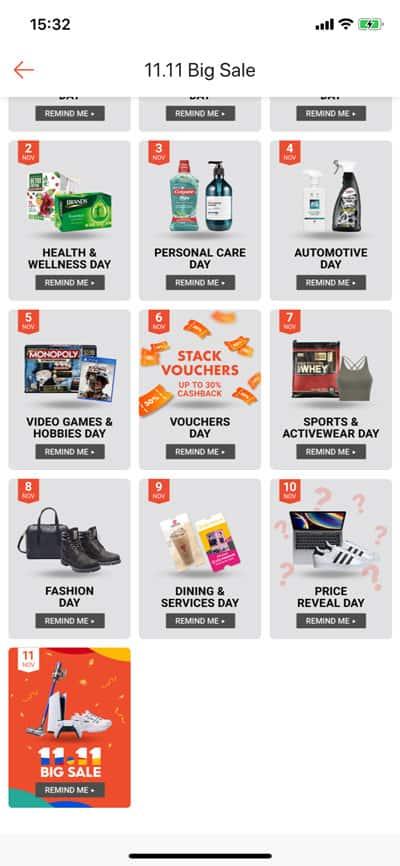 11.11 Sales on Shopee