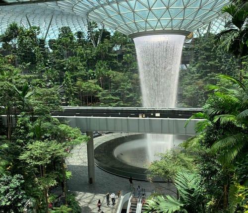 Rain Vortex at Jewel Changi Airport
